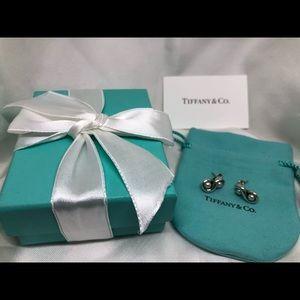 Tiffany Infinity Silver & Pearl Earrings Retired
